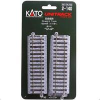 Kato 2-140 Rail Droit / Straight Track 123mm 4pcs - HO
