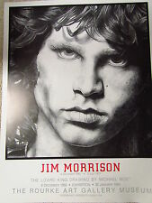 JIM MORRISON POSTER from  the Michael Moe Exhibition at the Rourke Art Gallery