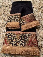Sherry Kline Tangiers-Black 3 Piece Luxury Towel Set