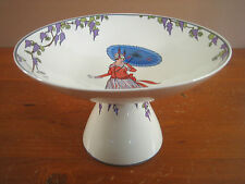 Villeroy Boch Design 1900 Compote Art Deco Nouveau Women Umbrella White Purple