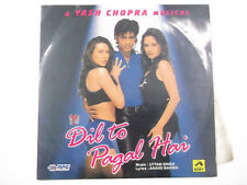 DIL TO PAGAL HAI UTTAM SINGH SHAH RUKH RARE orig LP RECORD 97 BOLLYWOOD INDIA G+