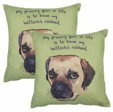 Set of2 Cotton Linen Canvas Home Decorative Pillow Case 17x17 inches DOG