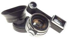 Steel Rim Summilux 1.4/35mm rare fast Leica lens OLLUX Leitz Canada Googles f=35