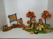 Enesco Friends of The Feather Resin Display Fall Scenes Corn Animals Native