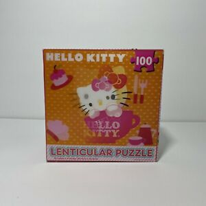 """Hello Kitty Lenticular Jigsaw Puzzle 100 PC 12"""" x 9""""  NEW SEALED"""