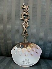 TIFFANY & CO SQUIRREL Nut BON BON Spoon STERLING SILVER 3D FIGURAL Aesthetic