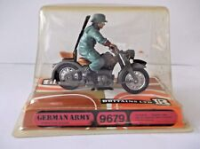 BRITAINS GERMAN ARMY DISPATCH M/C & RIDER.cat no - 9679  BOXED