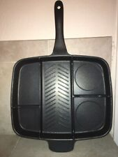 New listing MasterPan Series 5-Section 15� Nonstick Frying Pan Aluminum Grill & Flat Skillet