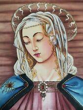 Peinture à l'aiguille, Vièrge Marie, passementerie, chasuble, bourse corporal