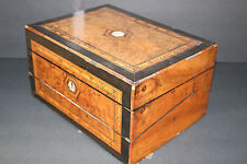 UNUSUAL travel/lap writing desk w/inkwell inlaid/mother of pearl JUST STUNNING