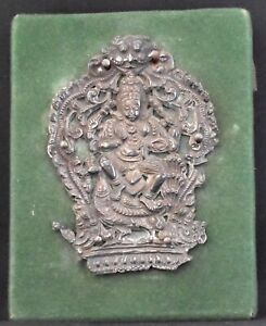 Subramanya silver repossue worship very fine 4.25 inches