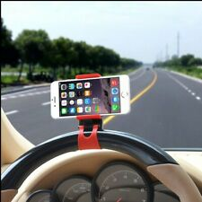 Phone Holder Car Steering Wheel Clip Mount GPS Cradle for iPhone Samsung HTC LG