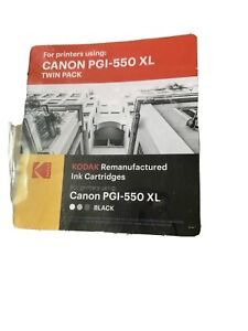 Kodak Remanufactured Printer Ink Canon PGI-550 XL Twin Pack - Black