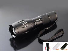 Ultrafire CREE XM-L T6 2000LM LED Torch Zoomable Flashlight Outdoor Flash Light