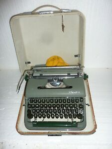 Vintage Olympia Portable Typewriter in Case made in Western Germany