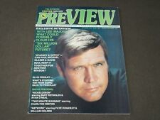 1976 SEPTEMBER PREVIEW MAGAZINE - LEE MAJORS COVER - CW 951