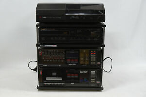 Vintage AIWA Shelf Stereo System RX-30 Receiver Amplifier /Tuner/Turntable/CD