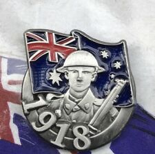 Australia in the Great War 1918 Soldier Lapel Pin Remembrance Day *ANZAC Day NEW