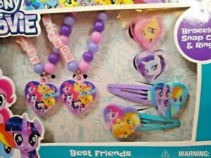 My Little Pony Best Friends  Bracelets Rings Hair Clips 6 pieces  New