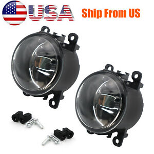 Pair Front Clear Lens Bumper Fog Light Lamps Assembly for Ford Focus Mustang