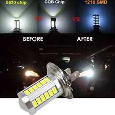 H7 5630 SMD 33 LED 12V alta Auto Coche Conducción Niebla Blanca Brillante Luz Lámpara Bombilla UK