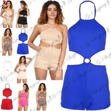 Women's Halterneck Sleeveless Jumpsuits & Playsuits