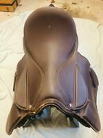 English Riding Saddle 16 Inch Brown Leather