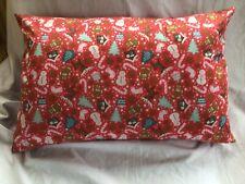 Christmas Bolster Cushion Cover 18x12(45x30cms)