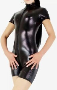 😍Metallic Turnanzug Black Turnen Gymnastik Gr. 3XL Body Turnbody Glanz Top Neu