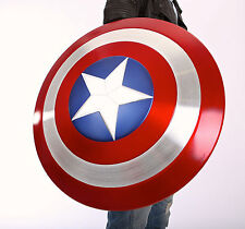 """Model Metal The Avengers 1:1 Captain America Shield 22.5"""" Mens Cosplay Prop Gift"""