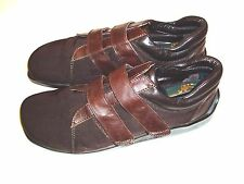 Donald Pliner 9.5 Brown Double Strap Monk Strap Shoes Made In Italy