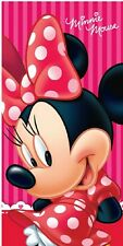 SERVIETTE ENFANT DISNEY MINNIE RAYEE  70 CM X 140 CM