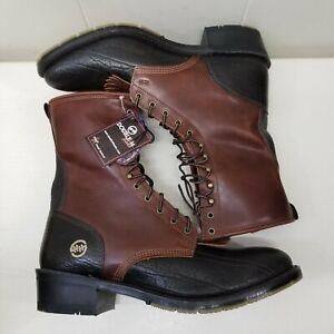 Double H Boots 13D DSS Aeroglide 7 DRYZ Brown Black LACER Oil Resistant Kiltie