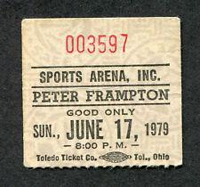 1979 Peter Frampton concert ticket stub Sports Arena Toledo  I'm In You
