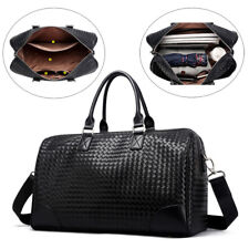 Mens Water Resistant Leather Travel Bag Sports Luggage Handmade Business Handbag