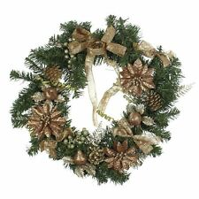 Christams Green and Gold Decorated Wreath by Winter Wonderland
