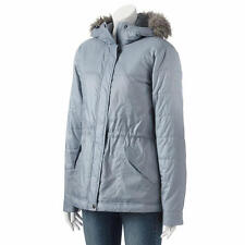 COLUMBIA M Polar Plush™ Tradewinds Gray Hooded Anorak Parka NWT $150