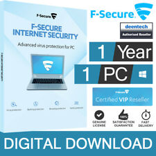 F-Secure Internet Security 2020 (1 Device/1 Year) Genuine License Certificate