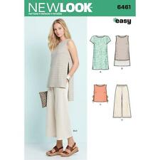 NEW LOOK SEWING PATTERN Misses' Dress Tunic Top & Cropped trousers  6-18 6461