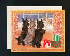 Scotty Dog Christmas Card - Set of 5 & Envelopes Scottie Puppy New 21