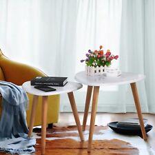 Retro Beistelltisch rund Holz Tisch Couchtisch Nachttisch Kaffeetisch Sofatisch