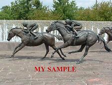 KENTUCKY THOROUGHBRED PARK BRONZE HORSE RACING JOCKEY SILK SADDLE CLOTH PHOTO #5
