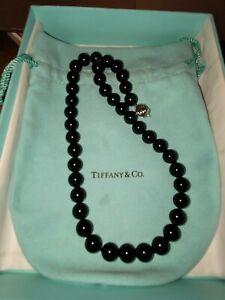 Tiffany&Co Onyx Bead Necklace