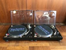 Pair Technics SL-1200MK5G Black color Analog DJ Turntable w/ SHURE cartridge