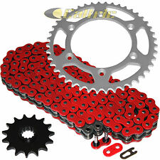 Red O-Ring Drive Chain & Sprockets Kit Fits SUZUKI DR350 94-99 / DR-Z400S 00-17