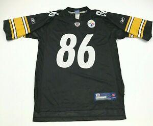 VINTAGE Reebok Hines Ward Pittsburgh Steelers Football Jersey Size Medium Black