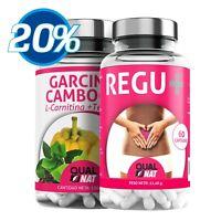 Garcinia Cambogia Quemagrasas L-Carnitina + Detox Limpieza Cólon 180+60 Cápsulas
