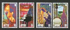 JERSEY 2014 EUROPA JOINT ISSUE MUSICAL INSTRUMENTS COMP. SET OF 4 STAMPS IN USED