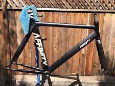 Affinity Kissena Track Bike Frame Large Black Keirin Sparkle Aero Fixed Gear