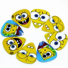 New 10 Spongebob Squarepants Guitar Picks ABS Plectrums Bundle Lot Spare .71mm